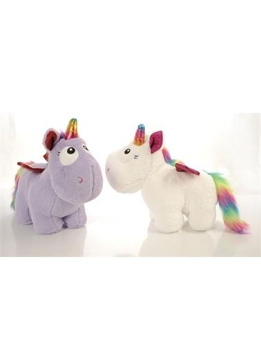 Sole İthal 1. Kalite Peluş Tek Boynuzlu, Kanatlı Unicorn Pony, AT 50cm Lila